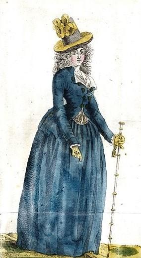 Страница из модного журнала конца 18-го века