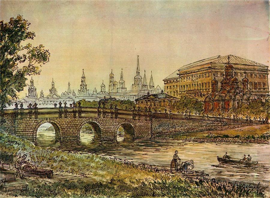 Старая иллюстрация Москвы Модные магазины в Москве Модные магазины Москвы второй половины 18 века 454554555555 e1449720978922