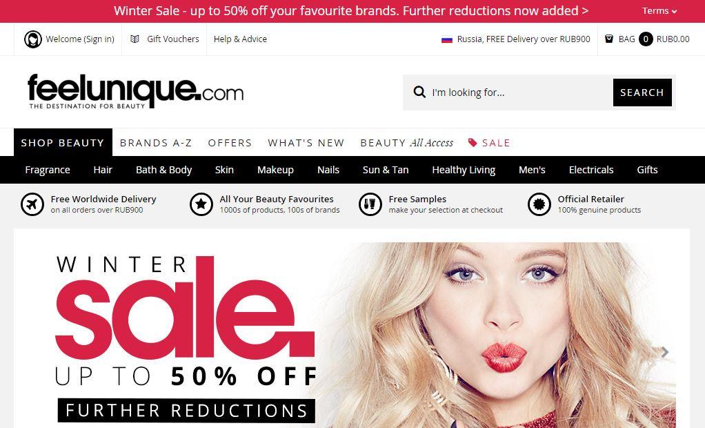 Feelunique  онлайн-магазины Со всего света: крупные онлайн магазины Feelunique