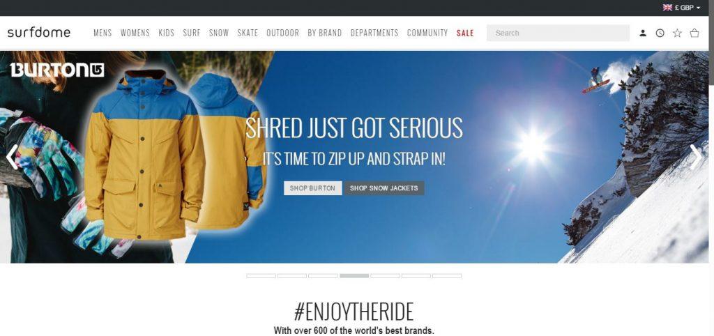 Surfdome онлайн-магазины Со всего света: крупные онлайн магазины Surfdome 1024x482