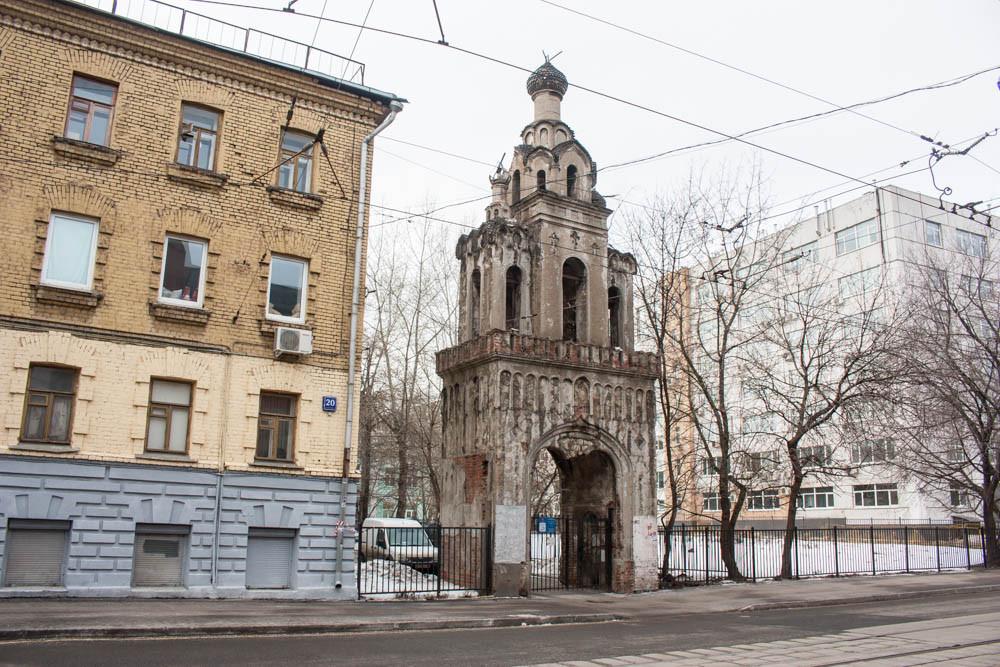 Колокольня снесённой церкви Кто в Москве не бывал... Кто в Москве не бывал… image27
