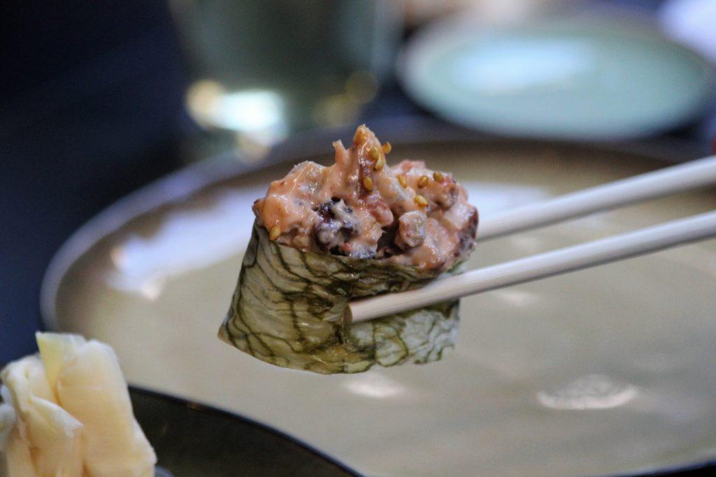 Ресторан niji Ресторан NiJi: Мраморные нори, икра тобико юдзу и три вида васаби IMG 6104 bpvty 1024x683
