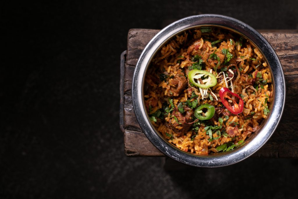 муттон бириани dalla masala DALLA MASALA – ресторан аутентичной индийской кухни в центре Москвы Mutton Biriani 550r 1024x683