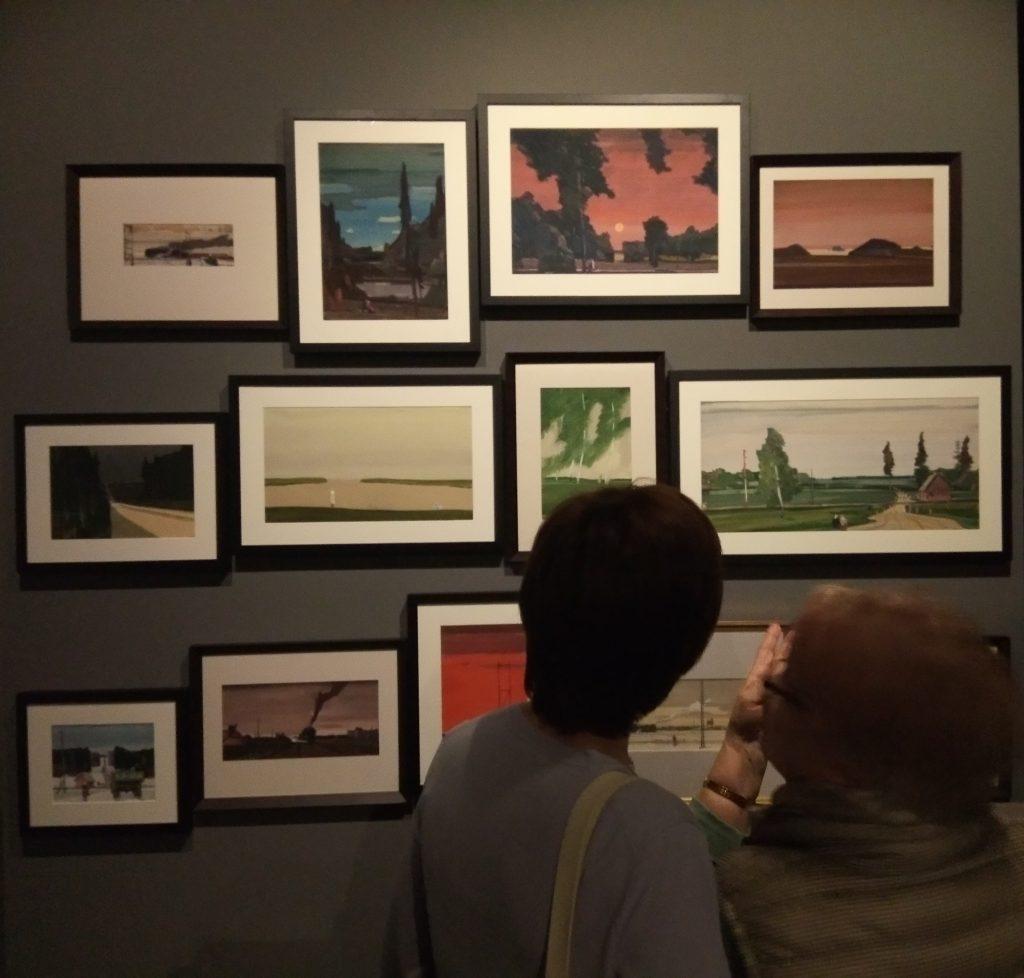 Гуаши Георгия Нисского на выставке в ИРРИ. георгий нисский Границы и горизонты 2 1024x978