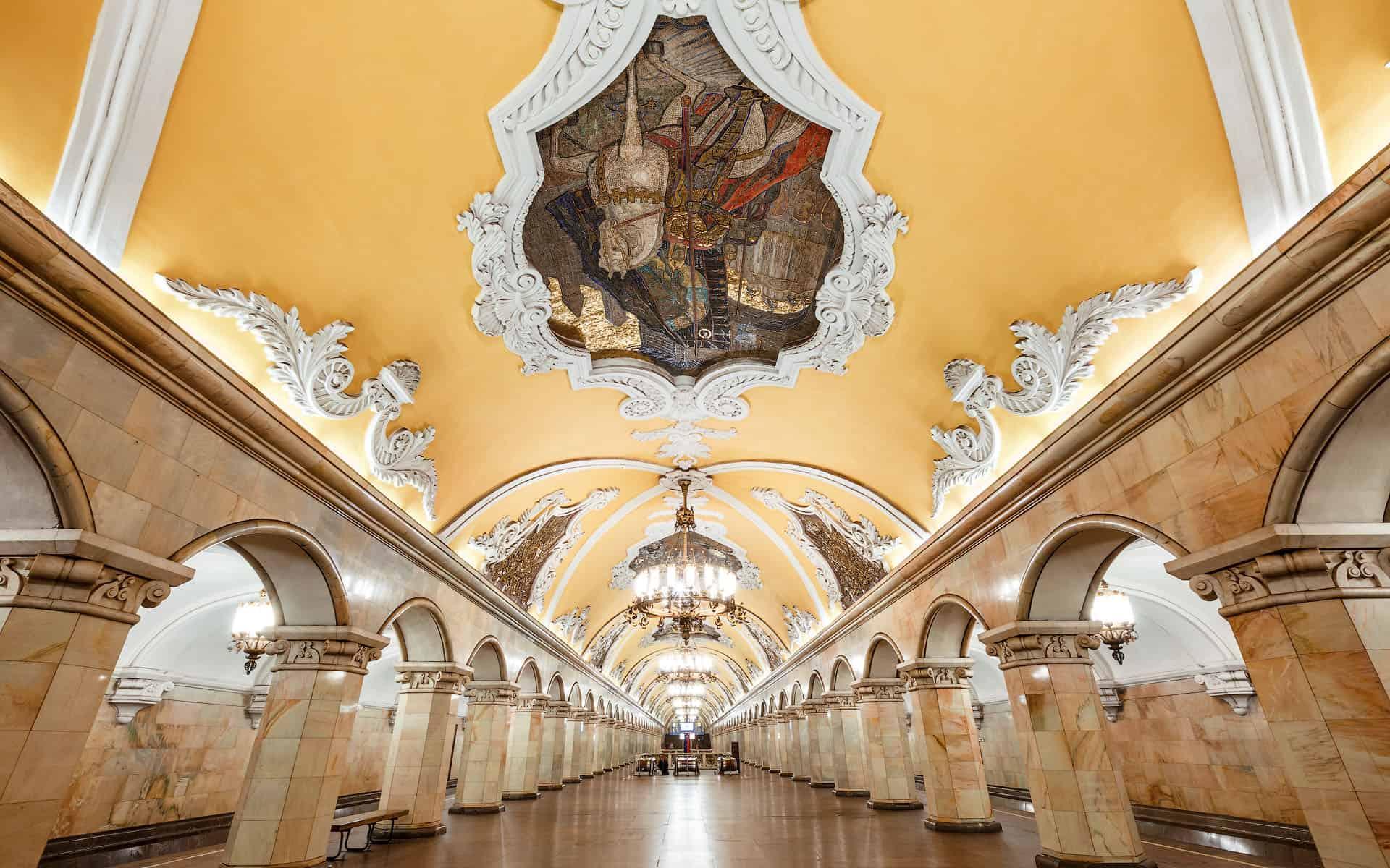 архитектура Столичное метро в деталях komsomolskaya 25 1920x1200