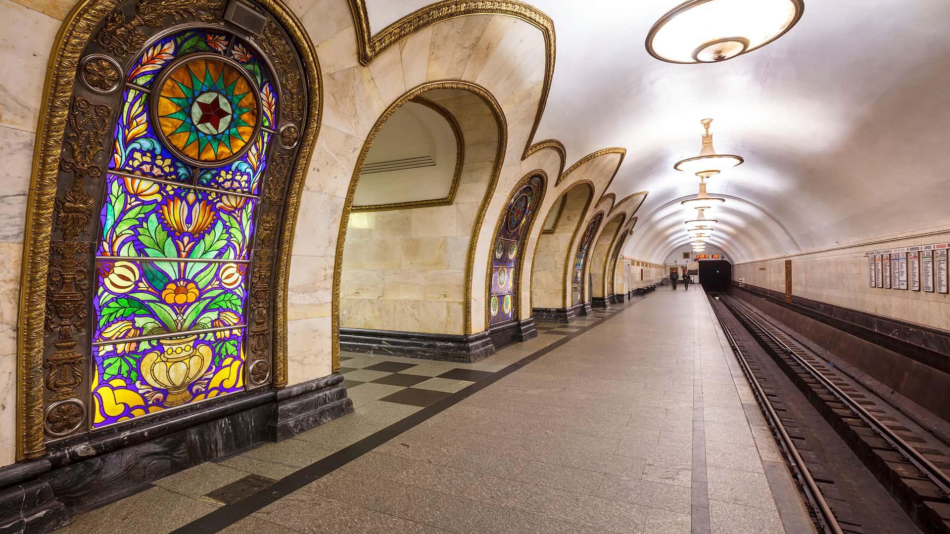 архитектура Столичное метро в деталях novoslobodskaya 14 1920x1080
