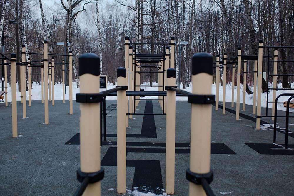 Воркаут площадки в Нескучном саду и Музеоне Парк Горького 5 мест для активного отдыха в Парке Горького     2