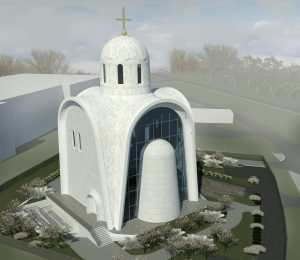 В Можайском районе появится храм со стеклянной стеной Exterior 40 300x260