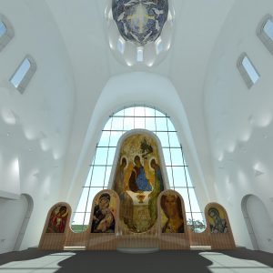 В Можайском районе появится храм со стеклянной стеной Interior 2 300x300