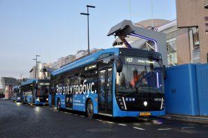 Четвертый электробусный маршрут теперь работает у Киевского вокзала photo 2019 12 02 09 52 54 300x199