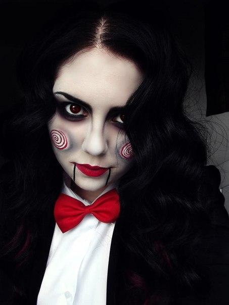 Макияж девушки на хэллоуин